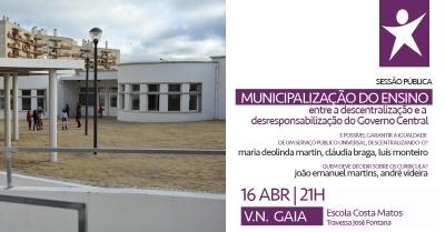Debate Público sobre Municipalização do Ensino, Entrada Livre